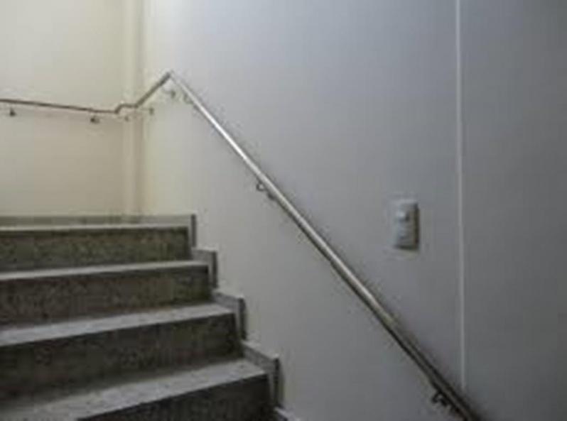 Corrimão Inox para Rampa Jardim Guarujá - Corrimão Alumínio para Escada