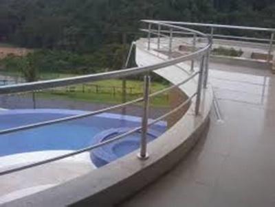 Guarda Corpo de Aço Escovado Vila Excelsior - Guarda Corpo de Ferro para Escada