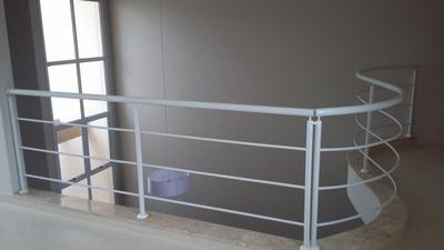 Guarda Corpo de Ferro Branco Preço Além Linha - Guarda Corpo de Ferro para Escada