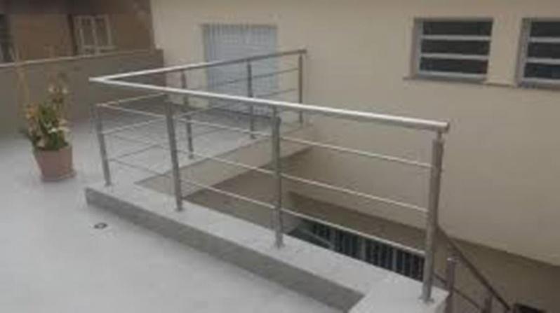Quanto Custa Guarda Corpo de Aço Escovado Jardim Capitão - Guarda Corpo de Ferro para Escada