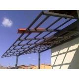 cobertura em estrutura metálica residencial preço Vila Amélia
