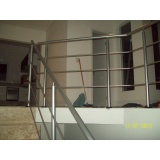 corrimão alumínio para escada Vila Leão