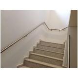 corrimãos alumínio para escada Lopes de Oliveira
