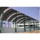 estrutura metálica para cobertura preço Vila Florinda