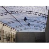 estrutura metálica para cobertura Jardim Zulmira