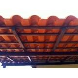estrutura metálica para telhado residencial Wanel Ville