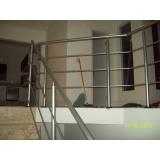 guarda corpo de aço escovado preço Vila Albertina