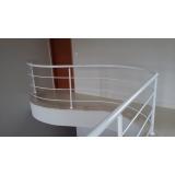 guarda corpo de ferro para escada preço Vila Gabriel