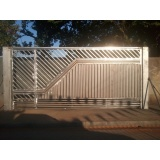 orçamento de portão metálico Além Ponte