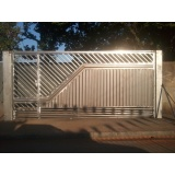 orçamento de portões metálicos para residências Wanel Ville