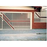 portão de aço para garagem Vila Leão