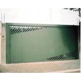 portão metálico basculante Vila Florinda
