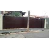 portão metálico de correr preço Vila Leão