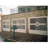 portão metálico para garagem preço Jardim Mirante dos Ovnis