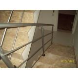 quanto custa corrimão alumínio para escada Santa Helena